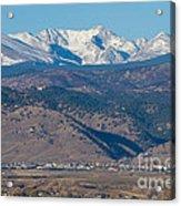 North Boulder Colorado Front Range View Acrylic Print