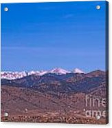 North Boulder County Colorado Full Moon View Acrylic Print