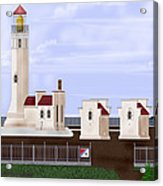 North Head Lighthouse Original Structures Acrylic Print