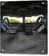 North Redoubt Cannons Acrylic Print