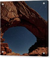 North Windows Arch Under Moonlight Acrylic Print