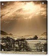 North Yorkshire, England Sun Shining Acrylic Print by John Short