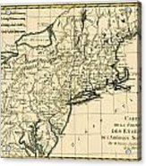 Northeast Coast Of America Acrylic Print