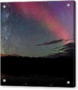 Northern Lights And The Milky Way Acrylic Print