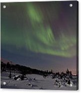 Northern Lights Over A Meadow Acrylic Print