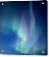 Northern Lights Over Canadian Lake Acrylic Print