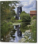 Norton Marsh Mill Norfolk Acrylic Print
