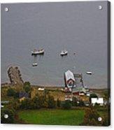 Norwegian Fishing Village Acrylic Print