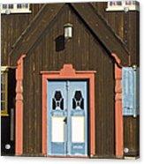 Norwegian Wooden Facade Acrylic Print by Heiko Koehrer-Wagner