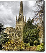 Norwich Cathedral England Acrylic Print by Darren Burroughs