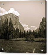 Nostalgic Yosemite Valley Acrylic Print
