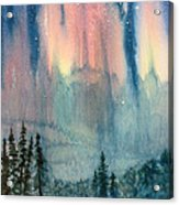 Nothern Lights Country Acrylic Print
