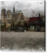 Notre Dame 1 Aquarell  Acrylic Print