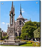 Notre Dame Cathedral Backside Acrylic Print