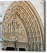 Notre Dame Cathedral Right Entry Door Acrylic Print