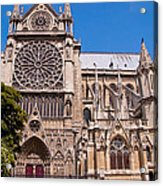 Notre Dame Cathedral Rose Window Acrylic Print