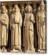 Notre Dame Details 1 Acrylic Print