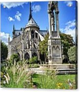 Notre Dame Gardens Acrylic Print