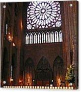 Notre Dame Votive Candles Acrylic Print