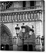 Notre Dame With Luminaires Acrylic Print