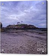 Nubble Lighthouse At Dusk Maine Usa Acrylic Print