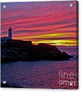 Nubble Lighthouse Acrylic Print by Scott Moore