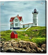 Nubble Lighthouse Acrylic Print by Tricia Marchlik