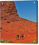 Nubian Camel Rider Acrylic Print by Tony Beck
