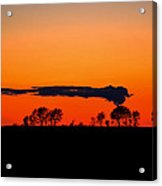 Nuclear Clouds Acrylic Print by Dan Crosby