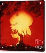 Nuclear Explosion Acrylic Print