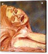 Nude Lady In Repose Acrylic Print