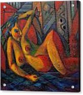 Nude No 1 Acrylic Print by Marina R Burch