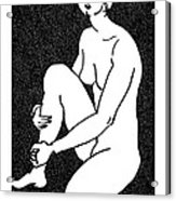 Nude Sketch 16 Acrylic Print