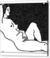 Nude Sketch 61 Acrylic Print by Leonid Petrushin