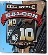 Number 10 Saloon Acrylic Print