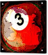Number 3 Billiards Ball Acrylic Print by David G Paul