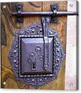 Nuremberg Castle Door Lock Acrylic Print