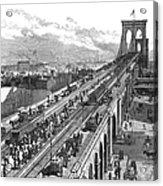 Ny: Brooklyn Bridge, 1883 Acrylic Print