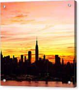 Ny Saturday Sunrise Acrylic Print