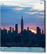 Ny Skyline Blue Dawn Acrylic Print