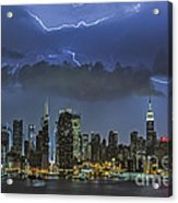 Nyc All Charged Up Acrylic Print