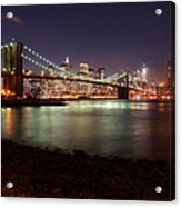 Nyc Brooklyn Nights Acrylic Print