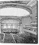 Nyc: Carnegie Hall, 1891 Acrylic Print