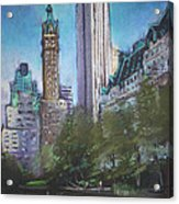 Nyc Central Park 2 Acrylic Print by Ylli Haruni