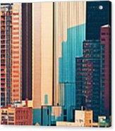 Nyc Colors And Lines II Acrylic Print