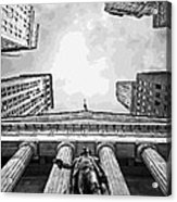 Nyc Looking Up Bw16 Acrylic Print by Scott Kelley