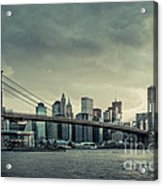 Nyc Skyline In The Sunset V2 Acrylic Print