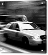 Nyc Taxi Bw16 Acrylic Print by Scott Kelley