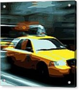 Nyc Taxi Color 16 Acrylic Print