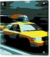 Nyc Taxi Color 6 Acrylic Print